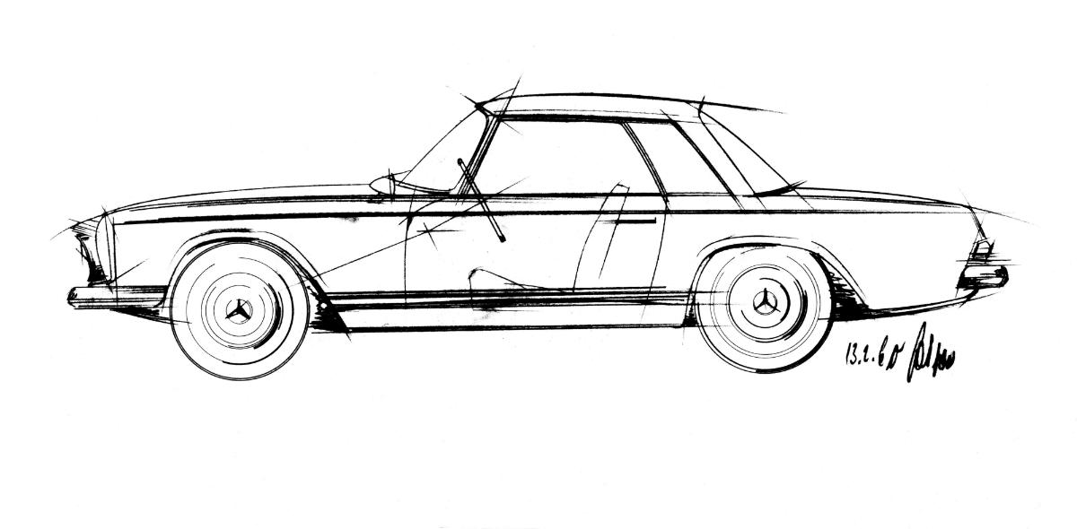 Mercedes-Benz W113 Kaufberatung Skizze