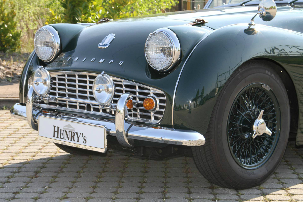 Triumph TR3 Kaufberatung Frontstoßstange