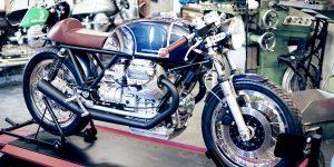 Auf einen Espresso mit Kaffeemaschine Custom Motorcycles