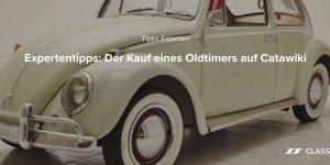 Anzeige | Expertentipps: Der Kauf eines Oldtimers auf Catawiki