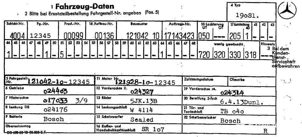 Mercedes-Benz 190 SL W 121 Datenblatt Kaufberatung (5)