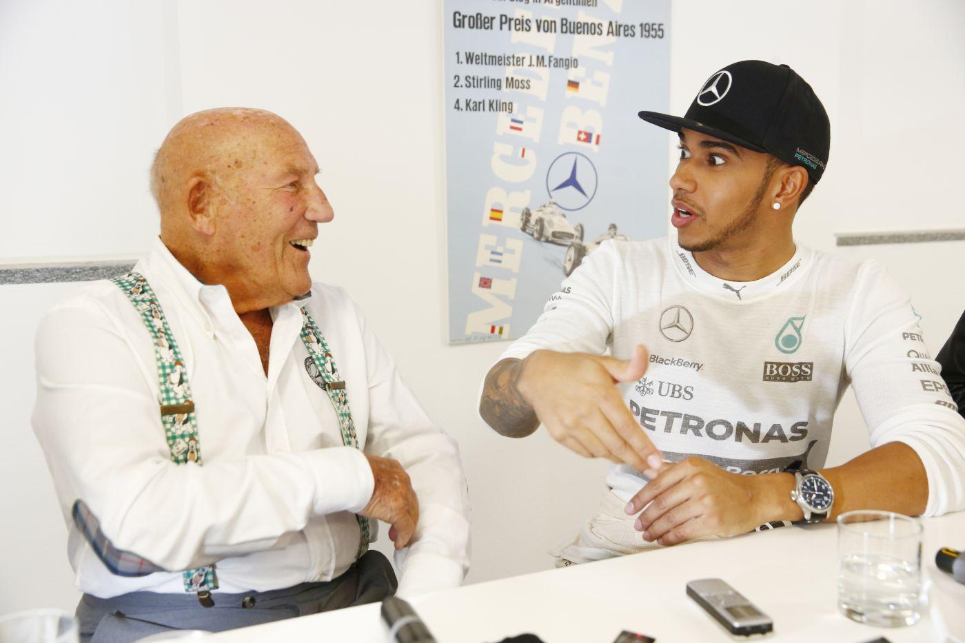 Sir Stirling Moss Lewis Hamilton Mercedes-Benz (2)