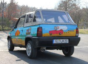 Fiat Panda Cabriolet als Preis der Spendenaktion