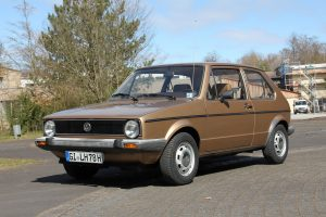 VW Golf I als Preis der Spendenaktion