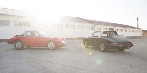 Die unglaubliche Wiedervereinigung zweier Porsche 911 S Soft Window Targa