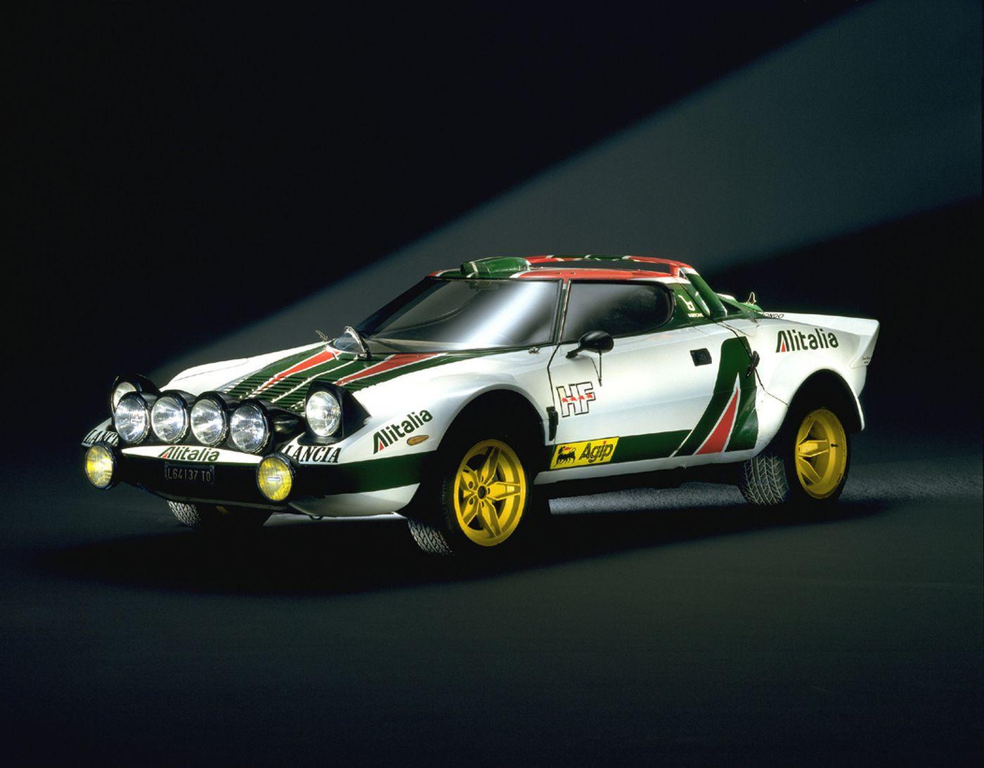 Formen und Farben der 70er Lancia Stratos Rallye 1