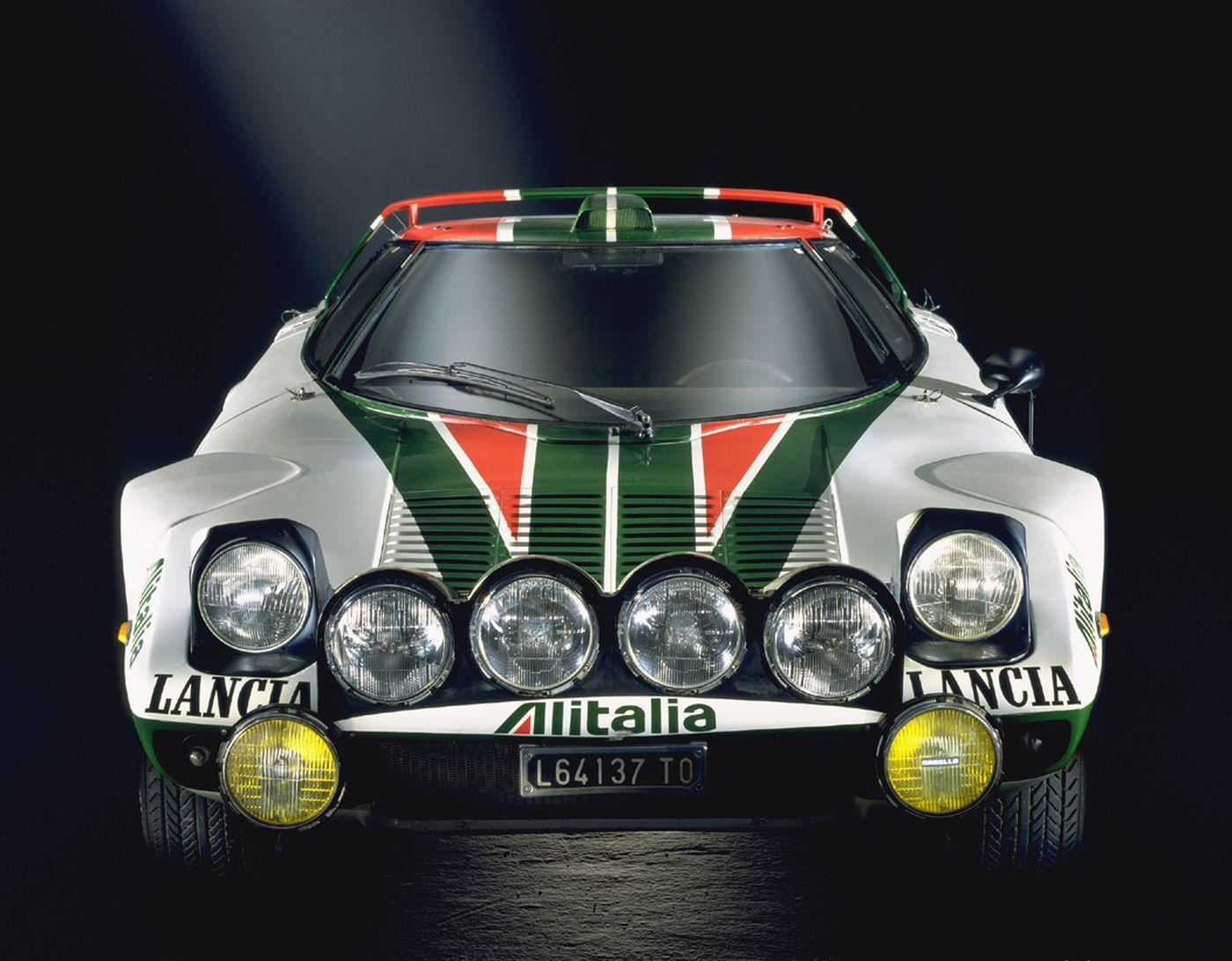 Formen und Farben der 70er Lancia Stratos Rallye 2
