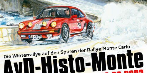 Auf den Spuren der legendären Rallye Monte Carlo: 23. AvD-Histo-Monte 2022