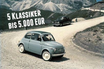 5 Oldtimer fuer 5000 EUR