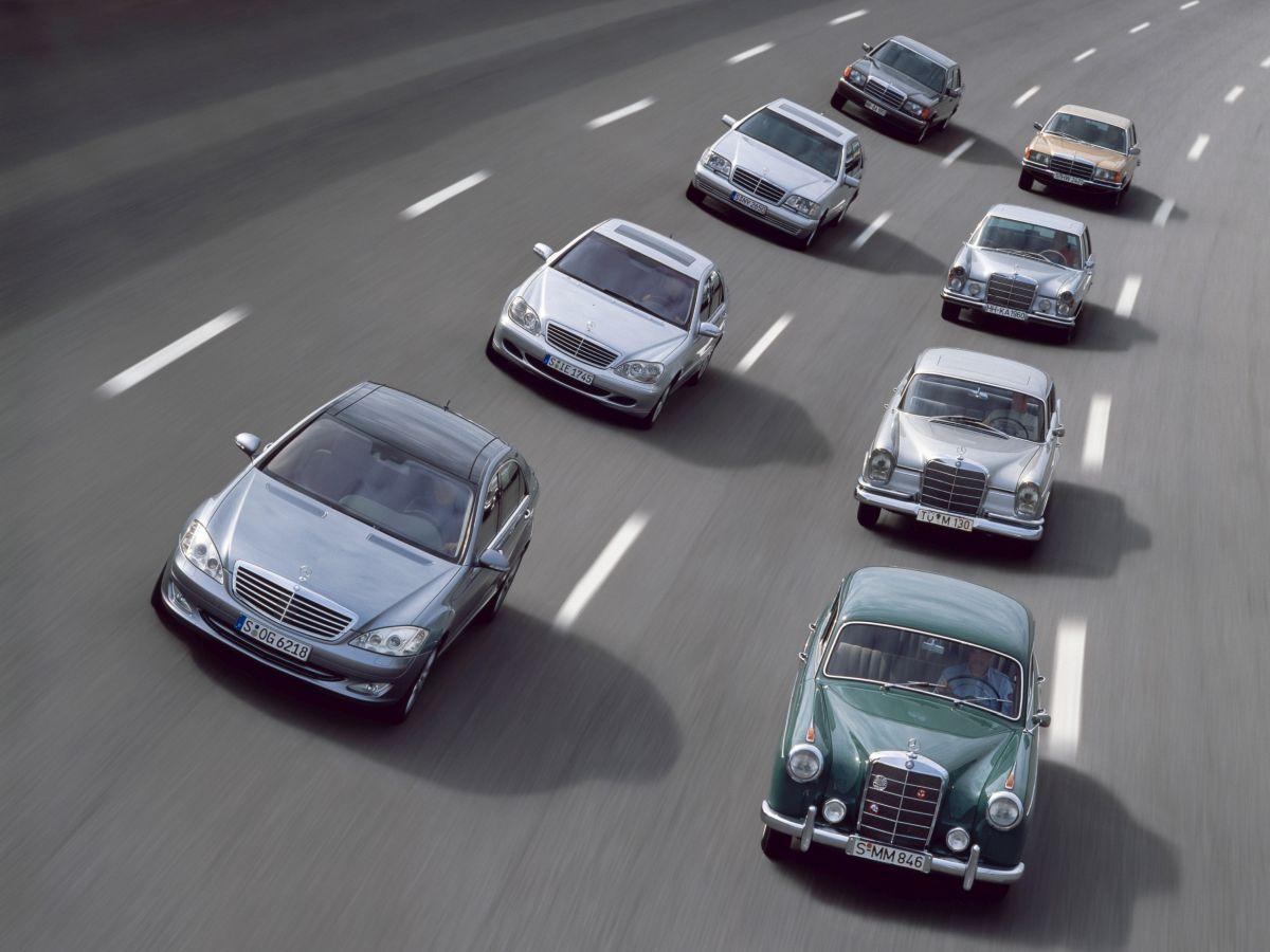 Youngtimer Mercedes S Klasse Flotte