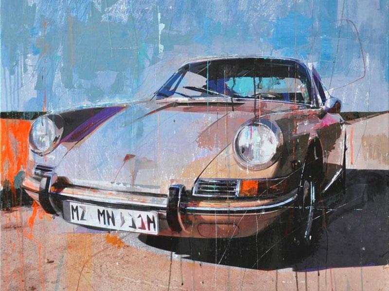 Porsche Gemälde